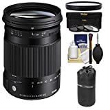 Sigma 18-300mm f/3.5-6.3 Contemporary DC Macro HSM Zoom Lens (for Sony Alpha A-Mount) with 3 UV/CPL/ND8 Filters + Macro Filter + Pouch + Kit for Sony Alpha A-Mount DSLR Cameras