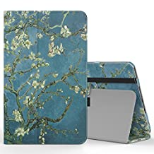 "MoKo Samsung Galaxy Tab A 10.1 Case - Slim Folding Cover with Auto Wake / Sleep for Samsung Galaxy Tab A 10.1"" 2016 Tablet (SM-T580 / SM-T585, No Pen Version), Almond Blossom"