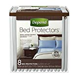 Depend Bed Protectors for Incontinence Protection, 24 Count