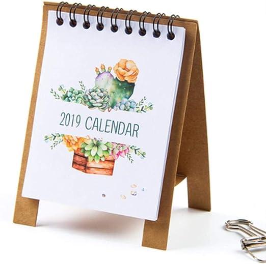 Grea 2019 Novedad Calendario de Escritorio de Dibujos Animados ...