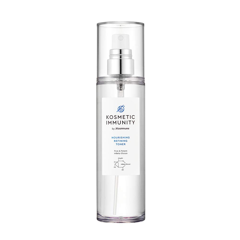 KOSMETIC IMMUNITY Nourishing Refining Facial Toner Spray, Korean Skincare Formulated with Beta Glucan, Alcohol-free, Calming Face Mist Helps Refresh, Hydrate and Brighten Skin