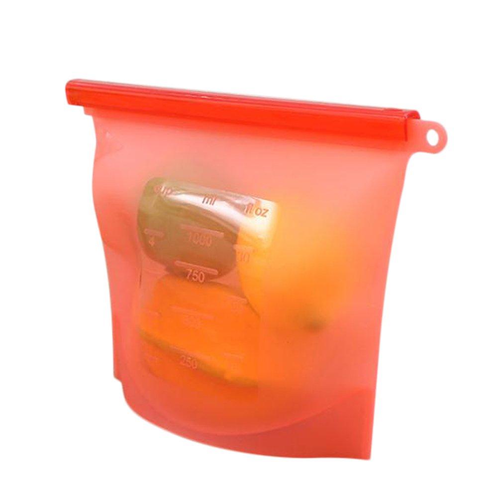 Bolsas de Almacenamiento de Silicona Bolsa de Conservación Refrigerador Reutilizable Bolsas Selladas al Vacío Bolsas de Comida Bolsa Congelada de Alimentos Frutos Vegetales (Azul)