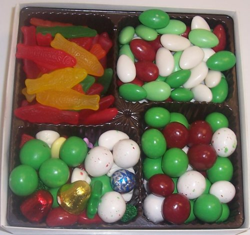 Scott's Cakes Large 4-Pack Deluxe Christmas Mix, Christmas Jordan Almonds, Christmas Malt Balls, & Swedish Fish