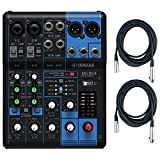 6 channel microphone mixer - Yamaha MG06X 6 Input Stereo Mixer (with SPX Effects) w/ (2) XLR Mic Cables