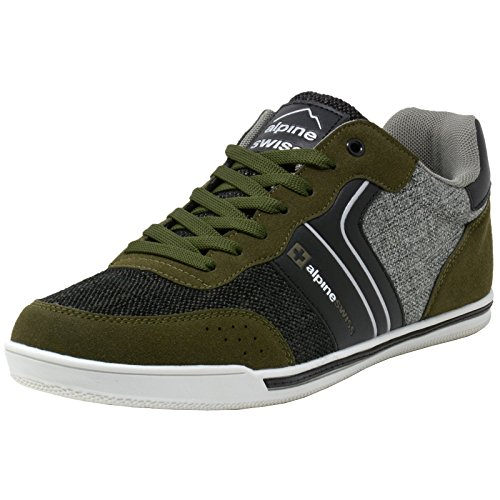 alpine+swiss+Liam+Mens+Fashion+Sneakers+Suede+Trim+Low+Top+Lace+up+Tennis+Shoes+OLV+13+M+US