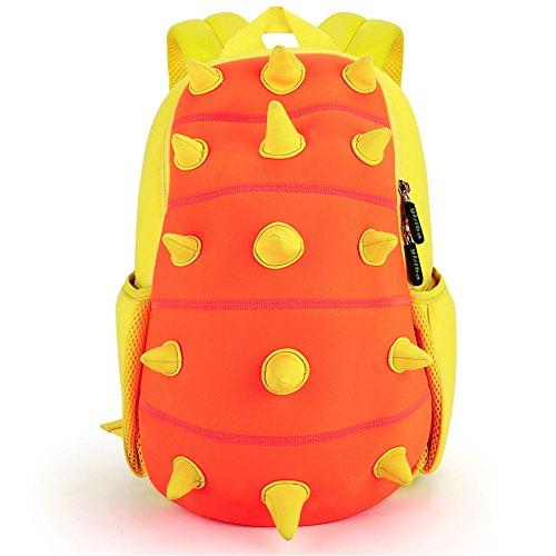 YISIBO Kids Backpack 3D Cute Cartoon School Toddler Sidesick Boys Girls Bags (Dinosaur Orange)