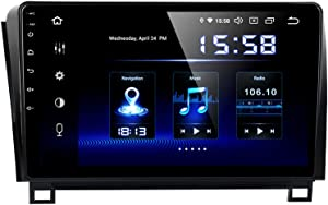 Dasaita 10.2 inch Touch Screen 1 din Android 9.0 Car Stereo for Android 9.0 Car Stereo for Toyota Tundra 2007 to 2013 and Sequoia 2008 to 2018 Radio GPS DSP 4G Ram 64G Rom Bluetooth Navigation Carplay