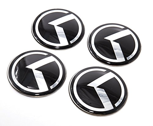 LIGHTKOREA 60mm 4Pcs 3D K Logo Wheel Center Caps Hub Decal Emblem Sticker Badge For Kia Stinger Niro Rio Sorento Sportage Optima Soul Cerato Forte Carnival Sedona Cadenza K900 Picanto Rondo ()