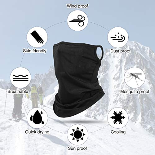Headband for Women, Face Rave Balaclava Riding Neck Gaiter Face Scarf Tube Bandana Sport Headwrap Multifunctional Seamless Headwear for Outdoor Camping Hiking
