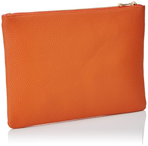 Lola Casademunt Primavera, Bolso Baguette para Mujer, Naranja (Orange), 1x25x32 cm (W x H x L)
