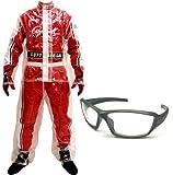 Mayatra's Combo Of Transparent Rain Suit With Biker Sunglasses