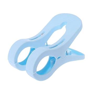 Utility - Toalla de playa grande, para lavar, para colgar, doble clip, para primavera, con agarres fuertes azul: Amazon.es: Hogar