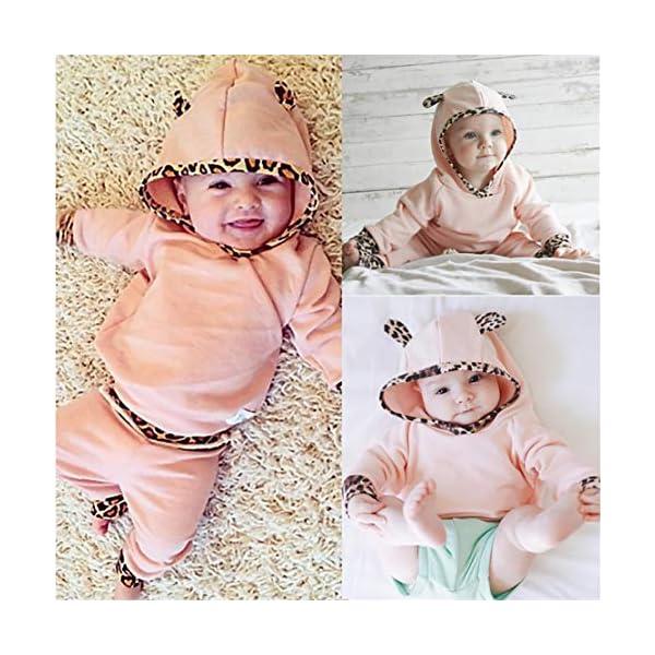 EDOTON Outfits Suit Neonato Bambina Manica Lunghe Cappuccio Vestiti Cappotto Floreale Top Felpa & Pantaloni Due Pezzi… 7