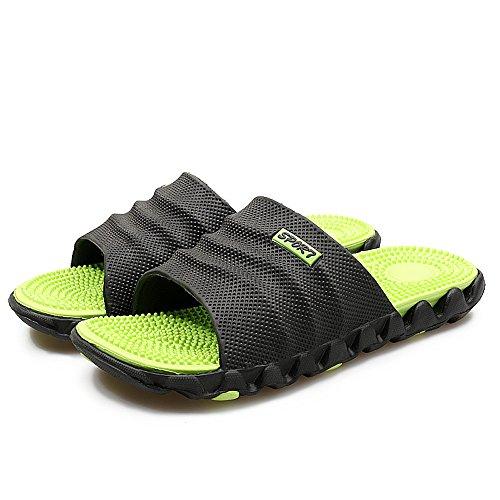 Al Zapatos Chicos Piscina Para Casa Reflexología Deslizantes Aire Nadando Ligero Hombres Chancletas Playa Verde Sandalias Zapatillas Libre OxBFq741w