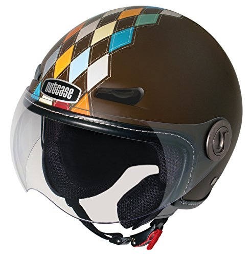 Nutcase - Motorcycle/Scooter Helmet, Fits Your Head, Suits Your Soul - Modern Argyle Matte, Small