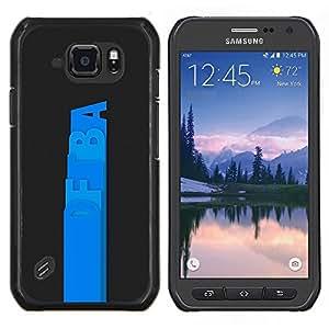 Qstar Arte & diseño plástico duro Fundas Cover Cubre Hard Case Cover para Samsung Galaxy S6Active Active G890A (DFBa)