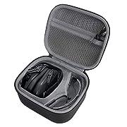 Hard Travel Case for Walker's Game Ear Walker Razor Slim Electronic Hearing Protection Muffs by co2crea (Black Case) (Black Case)