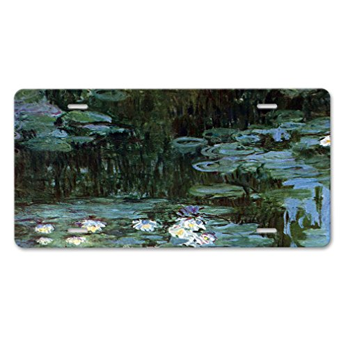 Water Garden At Giverny (Monet) Car Aluminum License - Shops Watergardens