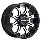 Mickey Thompson M/T Metal Series MM-164M Piano Black Wheel with Diamond Cut Accents (18x9''/8x170mm) 0 millimeters offset