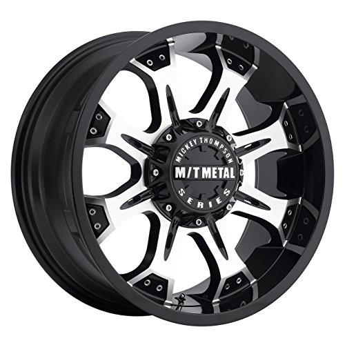 (Mickey Thompson M/T Metal Series MM-164M Piano Black Wheel with Diamond Cut Accents (20x9