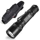 UltraFire WF-506B Handheld Flashlight 1000 Lumen Super Brigh LED 5 Light Modes with Nylon Flashlight Holder Duty Belt Holster