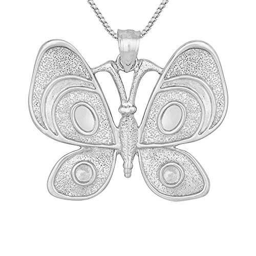 Butterfly Pendant / Charm, Made in USA, 18