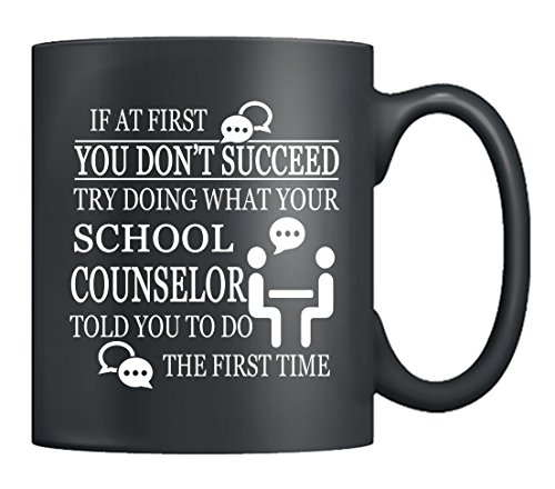 School Counselor Coffee Mugs - School Counselor Love Mugs Ceramic, Tea Cup Black 11Oz, Best Gifts For Friends (Black)