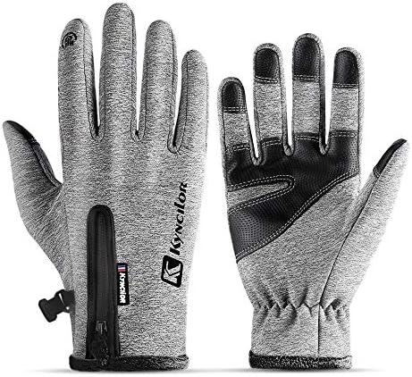 LPVLUX サイクリンググローブ タッチスクリーン 冬の手袋 厚いウォームグローブ 野外 クライミング ランニング スキーイング ライディンググローブ 男女向け D2