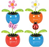 4'''' Solar Powered Flower Pot Toy Novelty Case Pack 96 , Kid ,Toy , Hobbie , Nice Gift