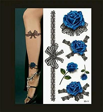 Amazon Com Bohemian Flower Child Hippie Fake Tattoo Black Lace