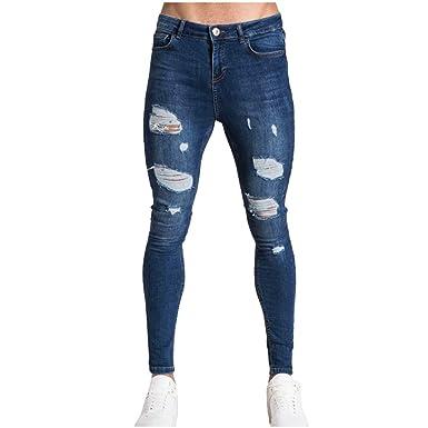 VPASS Pantalones Vaqueros para Hombre, Pantalones Casual Moda ...