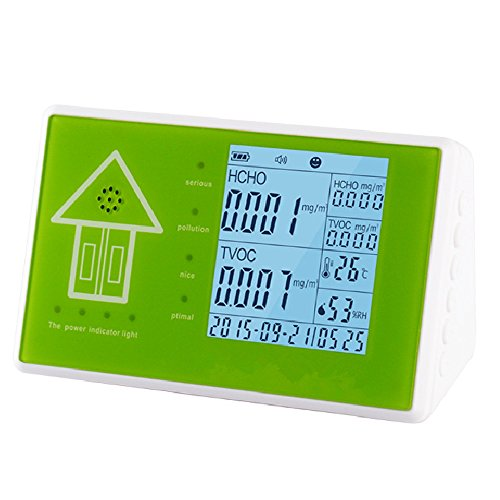 Umootek 10 in 1 Multifunctional Indoor/Outdoor Air Quality Monitor Accurate Testing TOVC, Formaldehyde, PM2.5,PM10, Methylbenzene,Humidity and Temperature-24-Hour Real-time Monitoring by Umootek