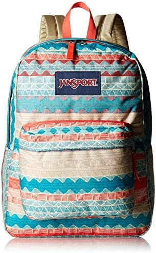 JanSport Unisex Superbreak Malt Tan Boho Stripe One Size