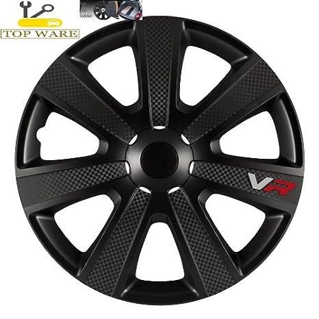 PARA Seat Leon 16 pulgadas tapacubos/Tapacubos/Tapacubos negro VR Carbon Style –