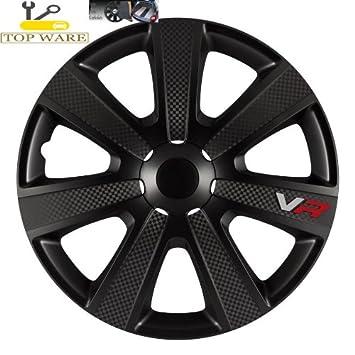 PARA Alfa Romeo 155 15 pulgadas tapacubos/Tapacubos/Tapacubos negro VR Carbon Style