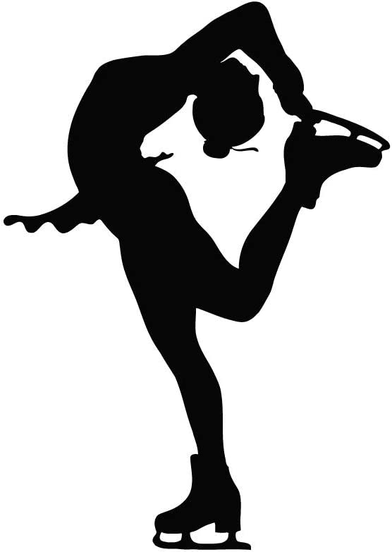 Vinyl Wall Decals Figure Ice Skater Skating Silhouette Sports Decal Sticker Home Decor Art Mural Z659 Amazon Com