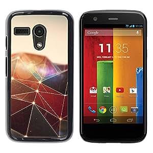 Be Good Phone Accessory // Dura Cáscara cubierta Protectora Caso Carcasa Funda de Protección para Motorola Moto G 1 1ST Gen I X1032 // Polygon Triangle Design