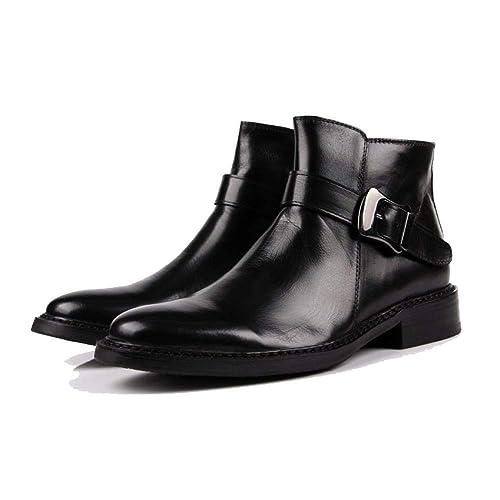 NIUMT Zapatos De Cuero para Hombres, Moda, Botines, Estilo Británico, Botas De