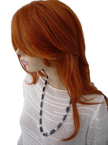 Wig Perruque Long Wig Untamed Cut Ginger Celeb Looks Real [Health And Beauty] Synthetic (Long Ginger Wig)