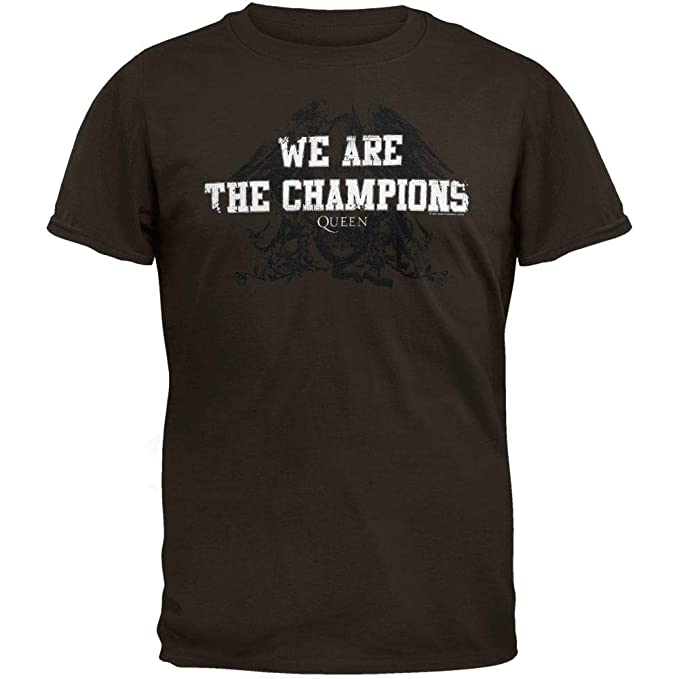 4a5afe43 Image Unavailable. Image not available for. Color: Queen - Mens We Are The Champions  Soft T-shirt ...