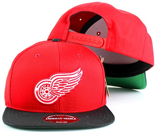 fan products of NHL American Needle Outfield Retro Flat Brim Snapback Cap (Adjustable, Detroit Red Wings)