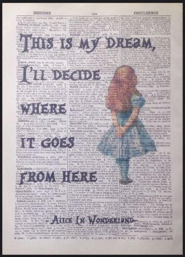 Parksmoonprints Alice In Wonderland Quote Vintage