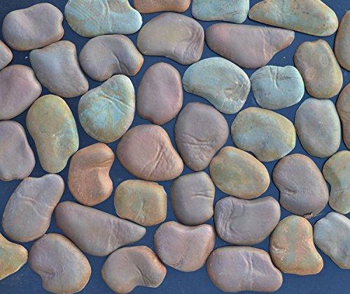 Betonex Sold Set 22 Concrete MOLDS River Rock Stone Moulds Wall Veneer Stones for FIREPLACES #W05 ()