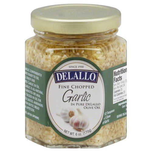 De Lallo Garlic Chopped In Oil, 8-ounce Jars (Pack of 12) by DeLallo