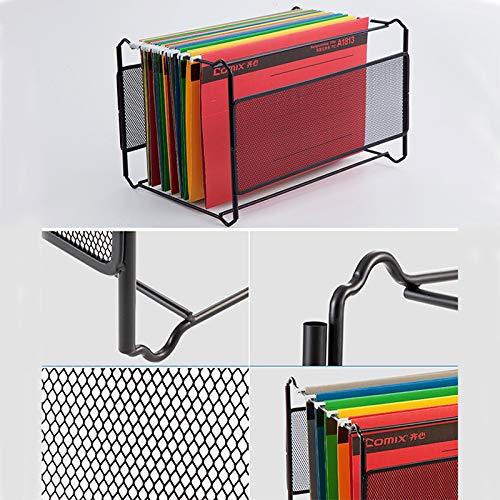 SaveStore 1pc Durable Metal Suspension File Rack Hanging File Frame, Letter Size A4 Black