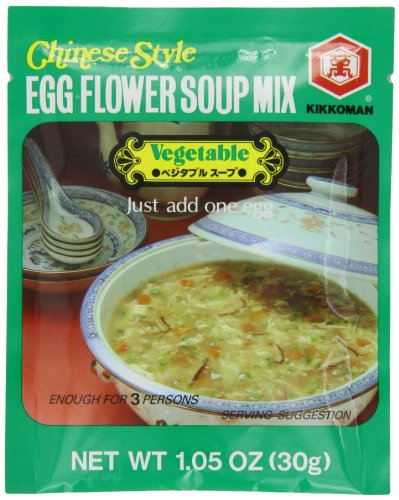 Egg Flower Soup - Kikomn Egg Flower Soup Mix, Vegetable, 1.05-Oz Pouches (Pack of 24)