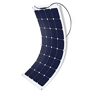 ACOPOWER Flexible Solar Panel, Thin Lightweight ETFE Solar Charger on RV  Boat Cabin Tent Caravan w MC4 Connector for 12V Battery (110W)