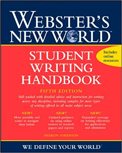 Amazon websters new world student writing handbook fifth amazon websters new world student writing handbook fifth edition 9780470435397 sharon sorenson books fandeluxe Image collections