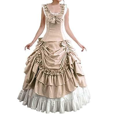Partiss Bowknot BallGown Gothic Lolita Evening Dress (X-Small, Champagne)