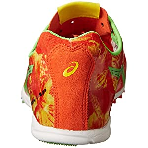 ASICS Men's Gunlap Track And Field Shoe,Red Floral/Flash Green,12 M US